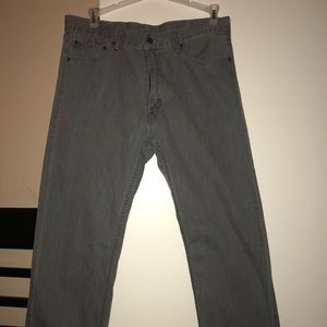Levis gray wash straight leg jeans